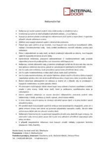 thumbnail of reklamační řád a protokol